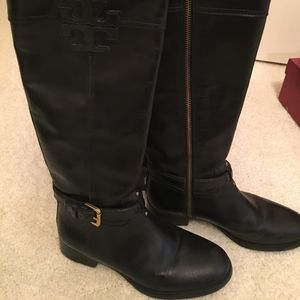 Tory Burch  Riding Boot Leather Black Size 7